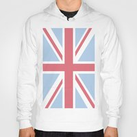 union jack Hoodies featuring Union Jack by Alesia D
