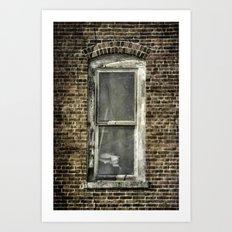 Brick Window 2 Art Print