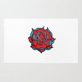 Oldschool Rose Love Rug