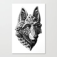 german Canvas Prints featuring German Shepherd by BIOWORKZ