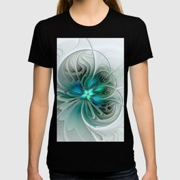 Abstract With Blue, Fractal Art T-shirt