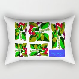 Israel in Hebrew and the fruits of Israel Rectangular Pillow