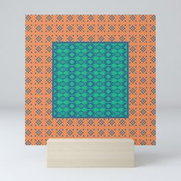 Bohemian Ethnic Mosaic Pattern Mini Art Print