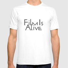 Film Is Alive LARGE Mens Fitted Tee White