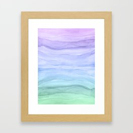 Layers Blue Ombre - Watercolor Abstract Framed Art Print