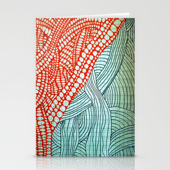 "Hand Drawn ""Orange Stones"" Doodle Stationery Cards"