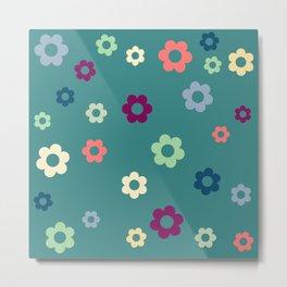 Calming Happy Flowers Metal Print