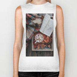 Marshmallows, Hot Chocolate, Autumn Biker Tank