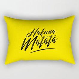 Hakuna Matata (Black on Yellow) Rectangular Pillow