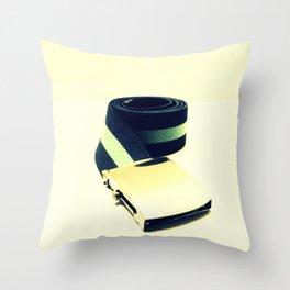 Retro Belt Throw Pillow