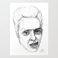 christopher walken Art Prints featuring Christopher Walken by Chuck Jackson