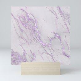 Marble Love Purple Metallic Mini Art Print