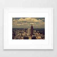 atlanta Framed Art Prints featuring Atlanta by Ubik Designs