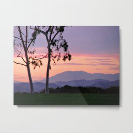 Saddleback Sunset Metal Print