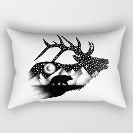 THE ELK AND THE BEAR Rectangular Pillow