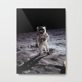 Buzz Aldrin on the Moon Metal Print