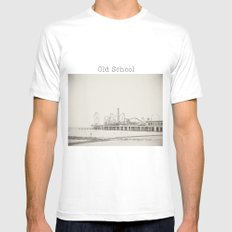 Old School Mens Fitted Tee MEDIUM White