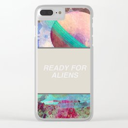 Ready For More Aliens Clear iPhone Case