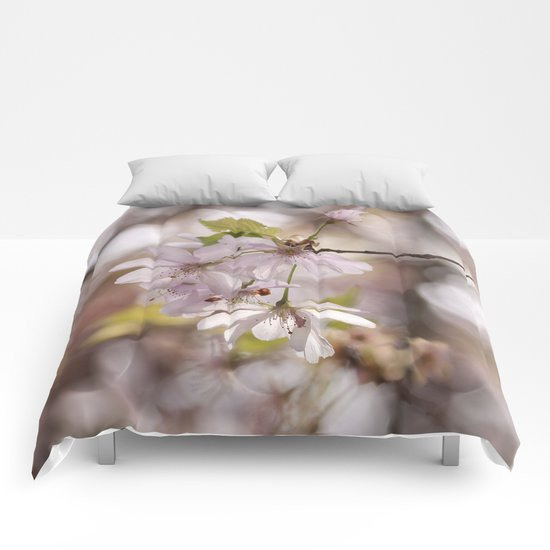 springblossoms at backlight Comforters