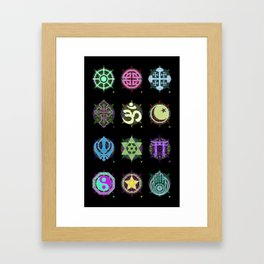 World Religions -- Group Framed Art Print