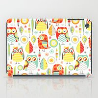 mod iPad Cases featuring Mod Owls by Jeannine Feierbach Designs