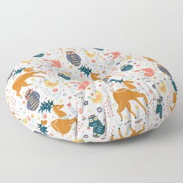 Scandinavian Folk Forest  Floor Pillow