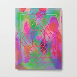 Psychadelic Pink/Green Diamonds Metal Print