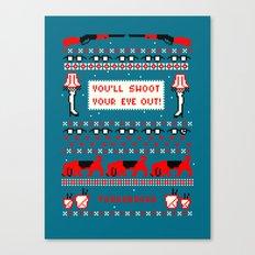 A Christmas Sweater (Blue) Canvas Print