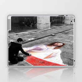 Street Art in Bologna Black and White Photography Color Laptop & iPad Skin