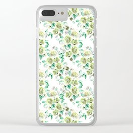 Yellow Rose Garden Clear iPhone Case