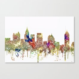 Atlanta, Georgia Skyline SG - Faded Glory Canvas Print