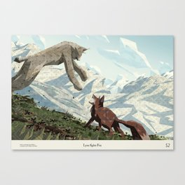 Shelter 2 - Lynx fights Fox Canvas Print