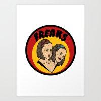 Freaks Bette & Dot Art Print