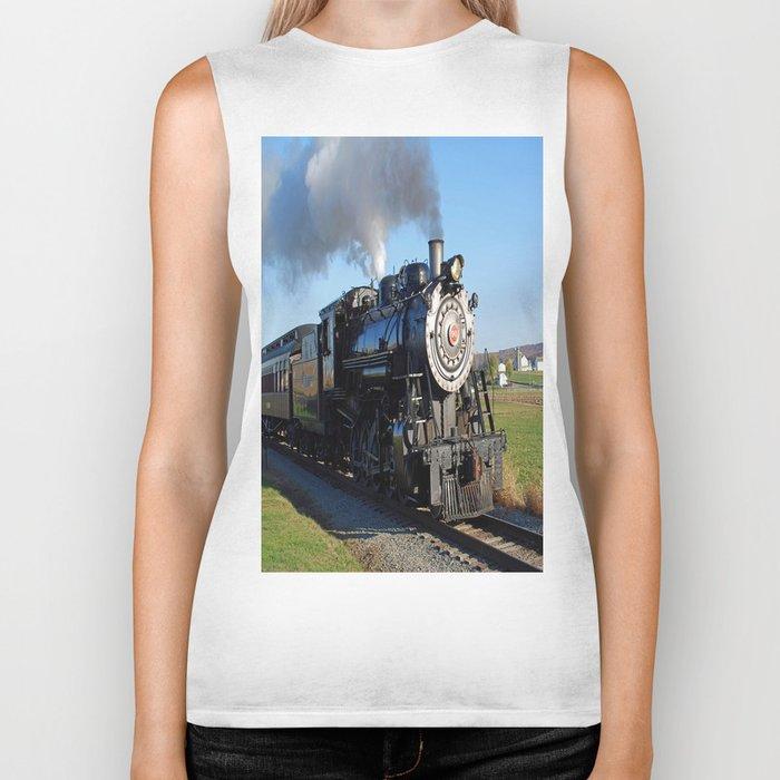 Steam Locomotive Biker Tank