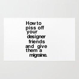 Designer Migraine Rug