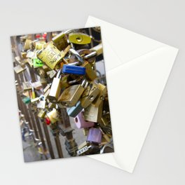 Lock it up. Stationery Cards