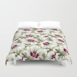 New Zealand Hibiscus Floral Print (Day) Duvet Cover