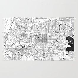 Christchurch Map Gray Rug