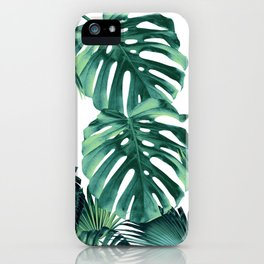 Tropical Summer Leaves Jungle Pattern #1 #tropical #decor #art #society6 iPhone Case
