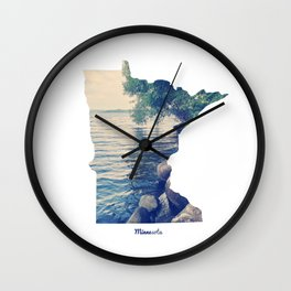Minnesota Wall Clock