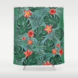 Exotique Floral Design Shower Curtain