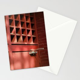 Red Architectural Detail Stationery Cards