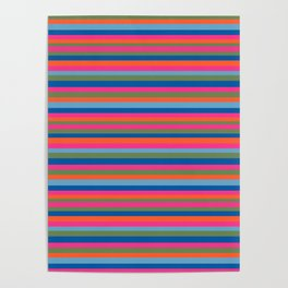 Fall Candy Stripes Poster