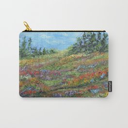 Where The Poppies Grow, Impressionism Painting Carry-All Pouch