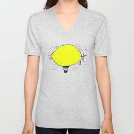 Lemon zeppelin Unisex V-Neck