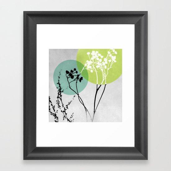 Abstract Flowers 2 Framed Art Print