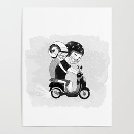 Riding in the Rain Poster