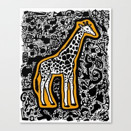 Orange Giraffe Canvas Print