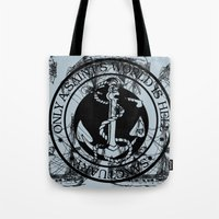 marine Tote Bags featuring Marine by CottonMouth