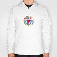 pentagram Hoodies featuring Celtic Pentagram by Groomporter